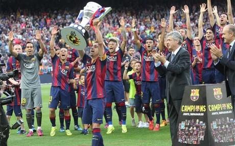 Xavi Hernández suma ya 24 títulos con el FC Barcelona. Todo un récord