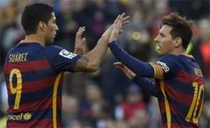 Luis Suárez y Leo Messi, fuera de la lista