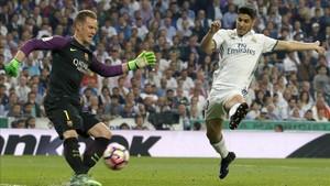 Ter Stegen fue capital en el triunfo del Barça ante el eterno rival