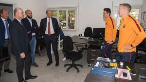 Monchi ya visitó las instalaciones de la Roma