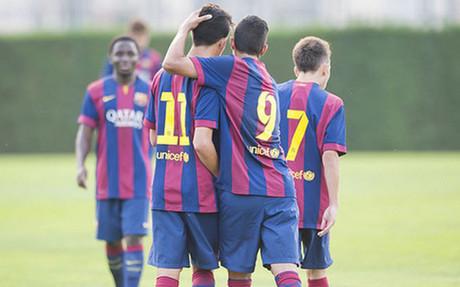 Celebraci�n de un gol en una imagen de archivo