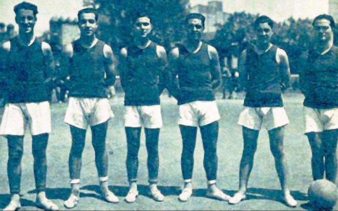 Imagen del equipo azulgrana a principios de la d�cada de los a�os 30