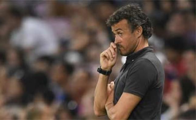 Luis Enrique, descontento con el rendimiento defensivo de Deulofeu