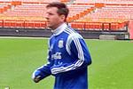 Messi se entrena al margen por sus molestias en el pie