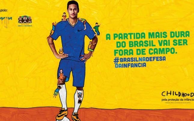 Neymar y Dani Alves junto a Childhood lanzan acción contra el abuso sexual infantil durante el Mundial