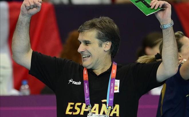 El seleccionador espa�ol de balonmano Jorge Due�as