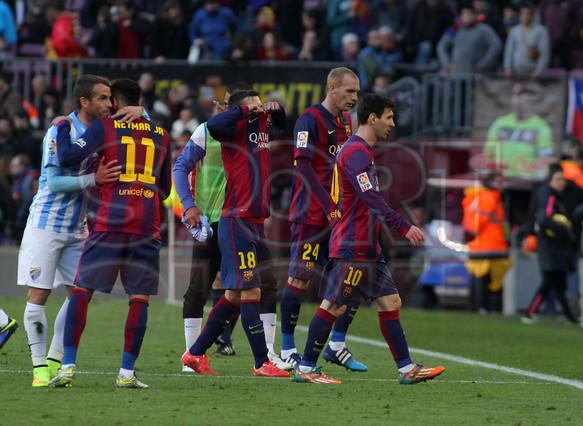 صور : مباراة برشلونة - ملقا  0-1 ( 21-02-2015 )  1424541222684