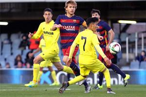 El Barça B venció al líder en el Mini