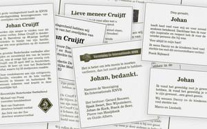 El De Telegraaf publica tres páginas enteras de esquelas dedicadas a Cruyff