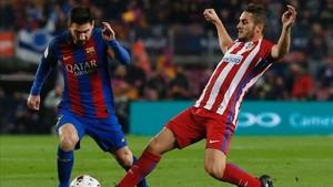 Messi, en un partido ante el Atlético