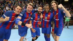 El Barça Lassa celebró el triunfo y la clasificación para la Final Four