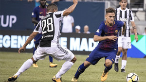 Denis Suárez ejerció de extremo izquierdo ante la Juventus