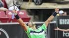 David Ferrer, celebrando la victoria en Bastad