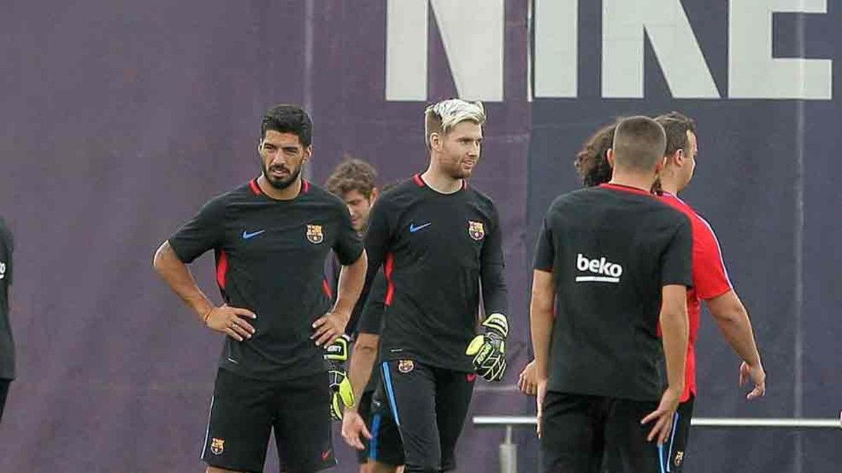 El Barcelona prepara el partido ante el Olympiacos