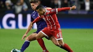 Thiago se rompió en la Champions ante el Anderlecht