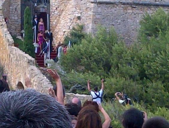 Messi y Cesc, durante la boda de Iniesta en el Castillo de Tamarit