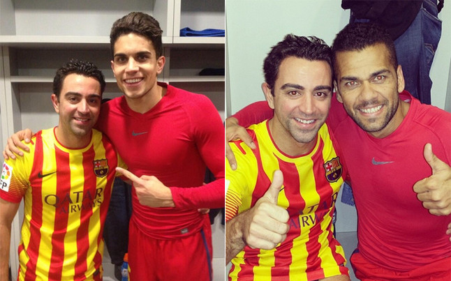 1389914921194 Xavi makes his 700th (!) Barcelona appearance v Getafe   Individual Highlights