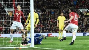 El gol de Juan Mata clasificó al United para los cuartos de final de la Europa League