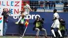 Mbappé salta de alegría tras marcar uno de sus goles