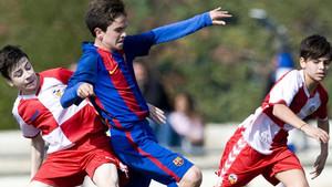 El azulgrana Marc Pelaz en el partido ante el Sabadell