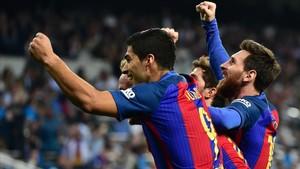 Luis Suárez destacó la exhibición de Messi