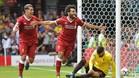 Salah marcó un gol y provocó un penalti