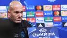 Zidane, en la sala de prensa del estadio Signal Iduna Park