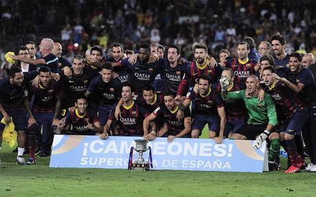 El Bar�a conquist� la �ltima Supercopa de Espa�a en la temporada 2013-2014