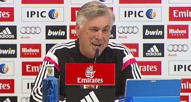 Ancelotti habla en rueda de prensa sobre la pol�mica de Caparr�s
