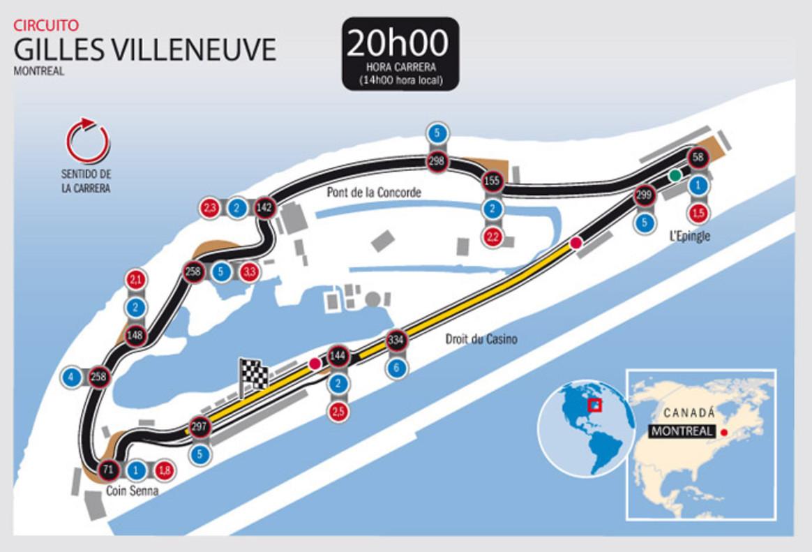 Circuito Gilles Villeneuve : El circuito gilles villeneuve del gp de canadá f