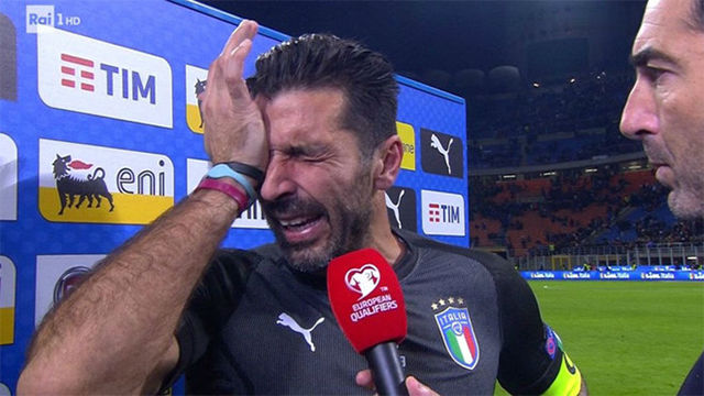 Las lágrimas de Buffon tras la eliminación de Italia