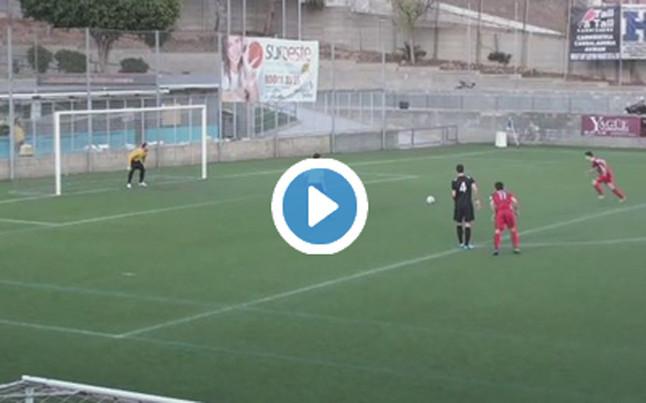 """Un jugador del Levante Las Planas marc� el """"gol de Messi"""" hace dos semanas"""