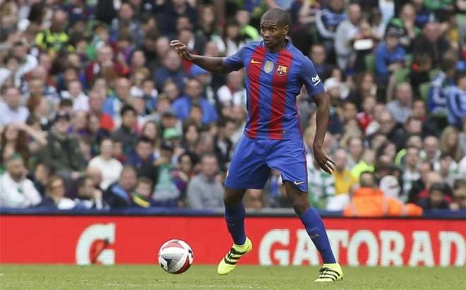 Marlon Santos, durante la pretemporada con el primer equipo