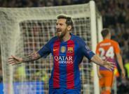 Messi viene de marcar un hat trick al Manchester City