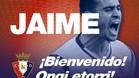 El Osasuna dio la bienvenida a Jaime Romero