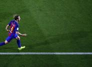 Rakitic, en la celebración de uno de los goles de esta temporada