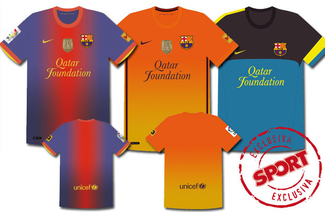 Las nuevas camisetas del Barcelona para la temporada 2012-2013