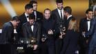 Messi recibió las felicitaciones de sus compañeros en Zúrich y a través de las redes sociales