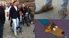 Cristiano Ronaldo, en Segovia y los zapatos de los Simpsons