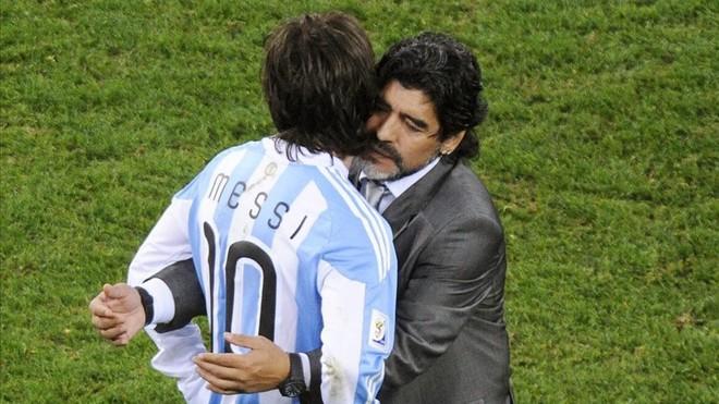Maradona ha perdido su ascendiente sobre Messi