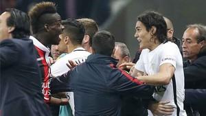 Balotelli y Cavani tuvieron sus más y sus menos