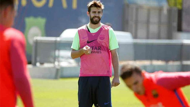 El Barça entrenó con Piqué como gran novedad