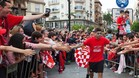 Banega se despidi� del Sevilla en la fiesta por la Europa League