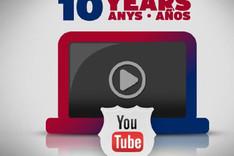 El FC Barcelona cumple 10 a�os en Youtube