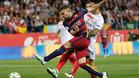 Jordi Alba abri� el marcador con un gran disparo cruzado