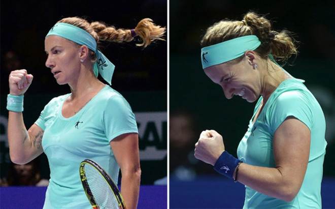 La larga trenza de Svetlana Kuznetsova qued� reducido casi a la mitad tras coger las tijeras