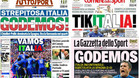 La prensa italiana mostr� su orgullo en las portadas