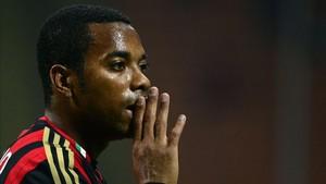 Robinho, con el Milan en 2013, año en el que se le acusa de los hechos