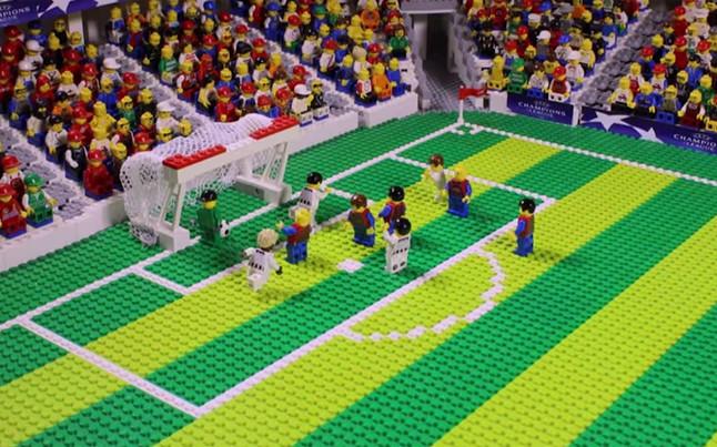 La final de la Champions League, en versión Lego