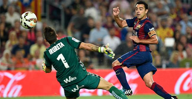 Xavi, uno de los futbolistas m�s analizados en el '100% Bar�a' de esta semana